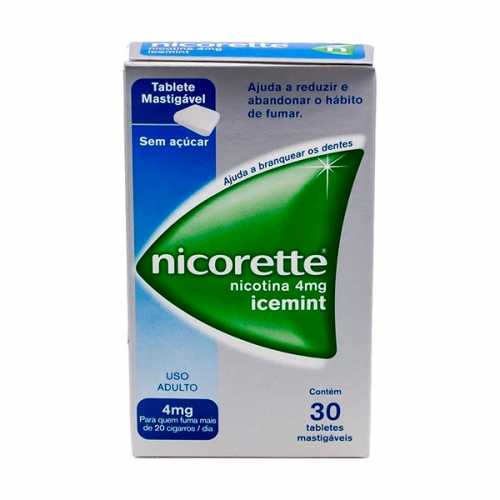 Nicorette 4mg com 30 tabletes Mint/Icemint