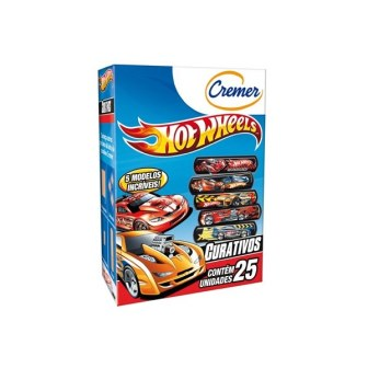 Curativo Cremer Hot Wheels 25 unidades