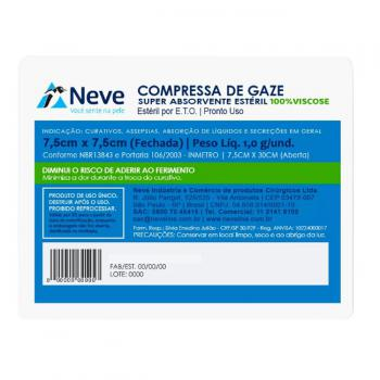 COMPRESSA DE GAZE VISCOSE C/10 NEVE